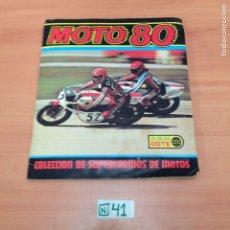 Coleccionismo Álbumes: ÁLBUM DE CROMOS INCOMPLETO MOTO 80. Lote 194653130