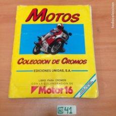 Coleccionismo Álbumes: ÁLBUM DE CROMOS INCOMPLETO MOTOS. Lote 194653741