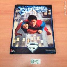 Coleccionismo Álbumes: ÁLBUM DE CROMOS INCOMPLETO SUPERMAN. Lote 194655108