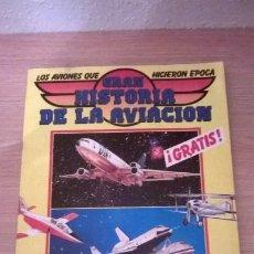 Coleccionismo Álbumes: ÁLBUM CROMOS GRAN HISTORIA DE LA AVIACIÓN . Lote 194661333