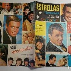 Coleccionismo Álbumes: OSCARCOLOR - ESTRELLAS FAMOSAS - ALBUM Nº 1 VACIO - POSTER ELVIS PRESLEY. Lote 194664370