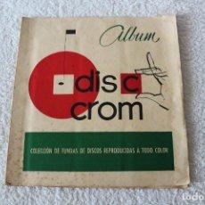 Coleccionismo Álbumes: ALBUM DE CROMOS: DISC CROM 1ª SERIE (FUNDAS DE DISCOS) - DISC CROM 1960.. Lote 194718771