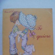 Coleccionismo Álbumes: ALBUM DE PEGATINAS DE SARAH KAY : TE QUIERO. DE PANINI, 1980 ............ CON 91 CROMOS PEGADOS. Lote 194725033