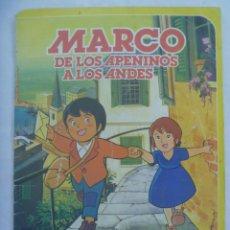 Coleccionismo Álbumes: ALBUM DE PEGATINAS DE MARCO, DE LOS APENINOS A LOS ANDES, DE DANONE 1976 ....SOLO FALTA UN CROMO. Lote 194730651