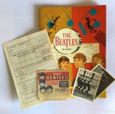 Coleccionismo Álbumes: ÁLBUM DE CROMOS THE BEATLES BRUGUERA 1966 + 2 CROMOS + SOBRE + CUPÓN GARANTÍA FALTAN 17 CROMOS. Lote 194781745