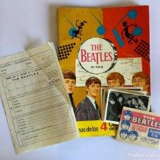 Coleccionismo Álbumes: ÁLBUM DE CROMOS THE BEATLES BRUGUERA 1966 + 21 CROMOS + SOBRE + CUPÓN GARANTÍA FALTAN 33 CROMOS. Lote 194782390