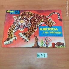 Coleccionismo Álbumes: ÁLBUM DE CROMOS INCOMPLETO MAGA. Lote 194861196