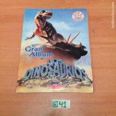 Coleccionismo Álbumes: ÁLBUM DE CROMOS INCOMPLETO DINOSAURIOS. Lote 194862516