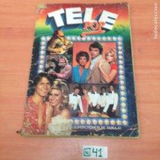 Coleccionismo Álbumes: ÁLBUM DE CROMOS INCOMPLETO TELE POP. Lote 194862578