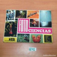 Coleccionismo Álbumes: ÁLBUM DE CROMOS INCOMPLETO FOTO CIENCIA. Lote 194864228