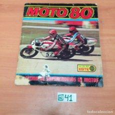 Coleccionismo Álbumes: ÁLBUM DE CROMOS INCOMPLETO MOTO 80. Lote 194864717