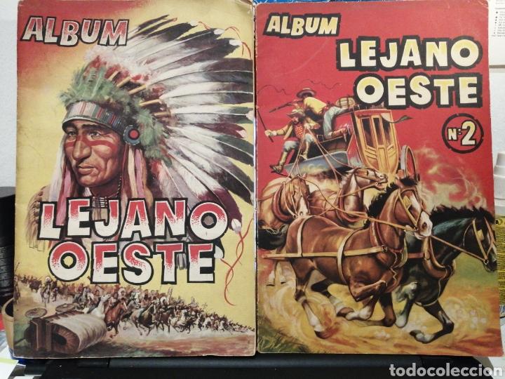 ALBUMS DE CROMOS LEJANO OESTE Y LEJANO OESTE 2. LEER DESCRIPCION. (Coleccionismo - Cromos y Álbumes - Álbumes Incompletos)