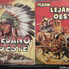 Coleccionismo Álbumes: ALBUMS DE CROMOS LEJANO OESTE Y LEJANO OESTE 2. LEER DESCRIPCION.. Lote 194890725