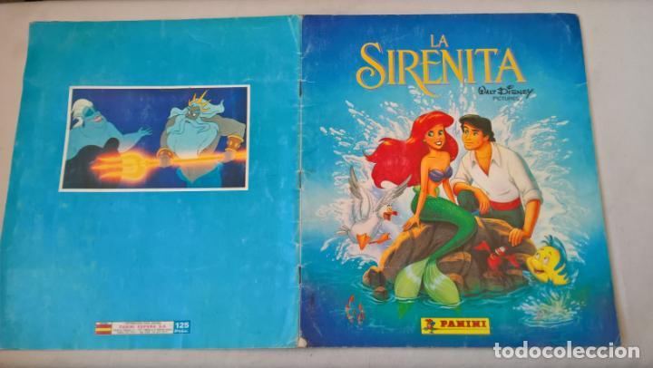 ALBUM DE CROMOS LA SIRENITA. WALT DISNEY (Coleccionismo - Cromos y Álbumes - Álbumes Incompletos)