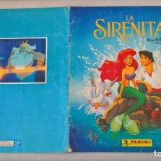 Coleccionismo Álbumes: ALBUM DE CROMOS LA SIRENITA. WALT DISNEY. Lote 194893423