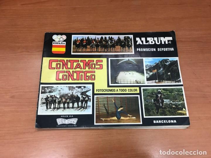 ALBUM CONTAMO CONTIGO 1968 INCOMPLETO 134 CROMO PEGADOS (Coleccionismo - Cromos y Álbumes - Álbumes Incompletos)