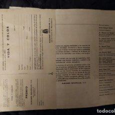 Coleccionismo Álbumes: ÁLBUM VIDA Y COLOR 1970 SIN TAPA DELANTERA INCOMPLETO SIRVEN LOS CROMOS TODOS FOTOGRAFIADOS. Lote 194901985