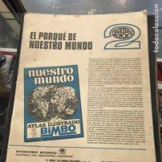 Coleccionismo Álbumes: ÁLBUM DE CROMOS DE BIMBO NUESTRO MUNDO 2. Lote 194950796