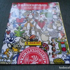 Coleccionismo Álbumes: ALBUM KUKUXUMUSU VACIO SIN CROMOS SIN STICKERS DE PANINI. Lote 194953462