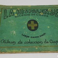Coleccionismo Álbumes: ALBUM LA HISPALENSE SOCIEDAD DE CIEGOS COLECCION CUPONES DON QUIJOTE E HISTORIA DE ESPAÑA 1934. Lote 195000913