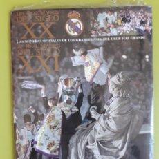 Coleccionismo Álbumes: REAL MADRID DEL SIGLO XX LAS MONEDAS OFICIALES DE LOS GRANDES AS ÁLBUM LAMINA 1 Y RAÚL REAL MADRID. Lote 195012302