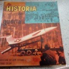 Coleccionismo Álbumes: ALBUM HISTORIA DE LA GUERRA CHOCOLATES CLAVILEÑO VACIO Y EN GENERAL ESTA BIEN. Lote 195019316