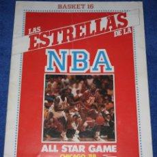 Coleccionismo Álbumes: LAS ESTRELLAS DE LA NBA - BASKET 16 (1988) ¡ALBUM VACÍO!. Lote 195059723