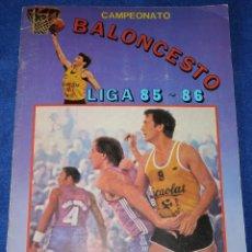 Coleccionismo Álbumes: CAMPEONATO DE BALONCESTO - LIGA 85 86 - LETONA - J.MERCHANTE (1985). Lote 195059791