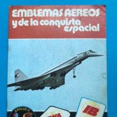 Coleccionismo Álbumes: ALBUM CROMOS - EMBLEMAS AEREOS Y DE LA CONQUISTA ESPACIAL, PANRICO - AÑO 1975 - VACIO. Lote 195112248