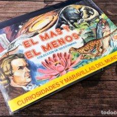 Coleccionismo Álbumes: EL MÁS Y EL MENOS CURIOSIDADES Y MARAVILLAS DEL MUNDO.. Lote 191481013