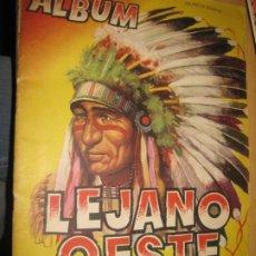 Coleccionismo Álbumes: ALBUM CROMOS LEJANO OESTE . EDICIONES GENERALES FALTAN 68 DE 288 CROMOS BUEN ESTADO. Lote 195152933