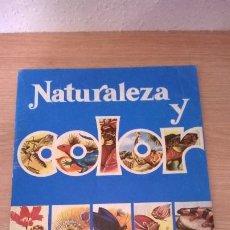 Coleccionismo Álbumes: ÁLBUM CROMOS NATURALEZA Y COLOR VACÍO . Lote 195207272