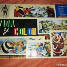 Coleccionismo Álbumes: ANTIGUO ALBUM DE CROMOS VIDA Y FLOR CON 350 CROMOS AÑO 1967. Lote 195220315