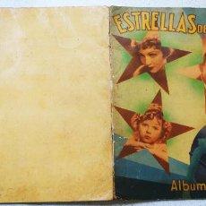 Coleccionismo Álbumes: ALBUM DE CROMOS CONTIENE 62 CROMOS ESTRELLAS DE CINE NESTLÉ. Lote 195230247