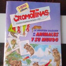 Coleccionismo Álbumes: ÁLBUM CROMOS LAS CROMOTINAS PEGATINAS ANIMALES Y SU MUNDO PLAZA JOVEN ED. PLAZA Y JANÉS. Lote 195245948