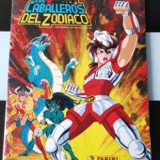 Coleccionismo Álbumes: ÁLBUM CROMOS LOS CABALLEROS DEL ZODIACO ED. PANINI. Lote 195247861