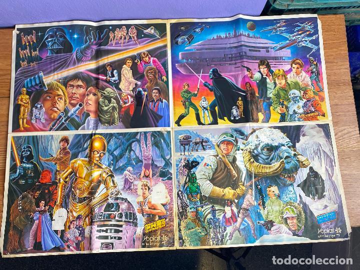 STAR WARS ÁLBUM PÓSTER EL IMPERIO CONTRAATACA - FALTAN 2 CROMOS - YOPLAIT AÑO 1980. MUY RARO. (Coleccionismo - Cromos y Álbumes - Álbumes Incompletos)