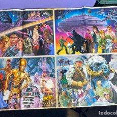 Coleccionismo Álbumes: STAR WARS ÁLBUM PÓSTER EL IMPERIO CONTRAATACA - FALTAN 2 CROMOS - YOPLAIT AÑO 1980. MUY RARO.. Lote 195339798