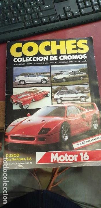 ALBUM COCHES COLECCION DE CROMOS FALTAN 10 CROMOS (Coleccionismo - Cromos y Álbumes - Álbumes Incompletos)