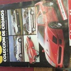 Coleccionismo Álbumes: ALBUM COCHES COLECCION DE CROMOS FALTAN 10 CROMOS. Lote 195366437