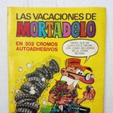 Coleccionismo Álbumes: LAS VACACIONES DE MORTADELO, INCOMPLETO. VER FOTOS Y DESCRIPCIÓN. Lote 195366907