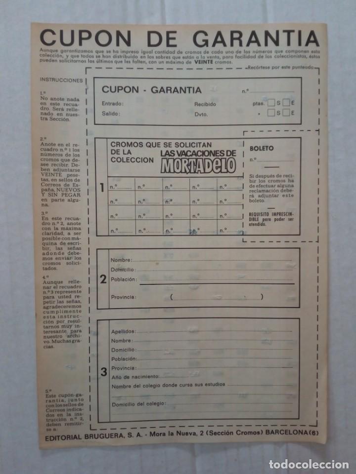 Coleccionismo Álbumes: LAS VACACIONES DE MORTADELO, INCOMPLETO. VER FOTOS Y DESCRIPCIÓN - Foto 20 - 195366907