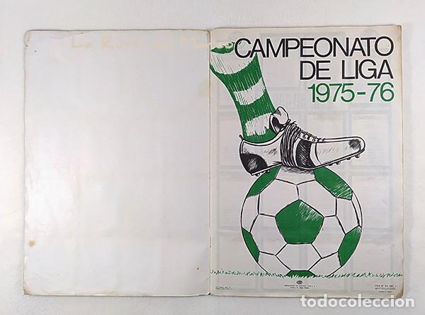 Coleccionismo Álbumes: Campeonato de liga 1975-76 - Álbum de cromos de fútbol - Faltan fichajes de última hora - Foto 3 - 195384837