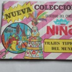 Coleccionismo Álbumes: ALBUM TRAJES TIPICOS DEL MUNDO CHICLES NIÑA 53 CROMOS. Lote 195389861