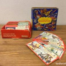 Coleccionismo Álbumes: COLECCIÓN CAJA INVENTOS BIMBO CON MÁS DE 80 CROMOS. Lote 195414160