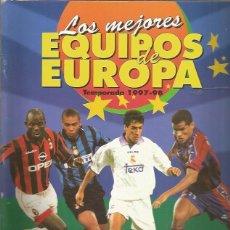 Coleccionismo Álbumes: ALBUM LOS MEJORES EQUIPOS DE EUROPA 1997 + REGALO SORPRESA. Lote 195492260
