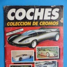 Coleccionismo Álbumes: ALBUM CROMOS - COCHES, CUSCÓ, AÑO 1990, VER DESCRIPCION Y FOTOS. Lote 195500522