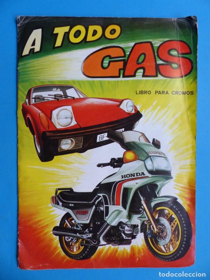 ALBUM CROMOS - A TODO GAS, ED. MAGA - AÑO 1982, VER DESCRIPCION Y FOTOS (Coleccionismo - Cromos y Álbumes - Álbumes Incompletos)