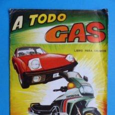 Coleccionismo Álbumes: ALBUM CROMOS - A TODO GAS, ED. MAGA - AÑO 1982, VER DESCRIPCION Y FOTOS. Lote 195501421
