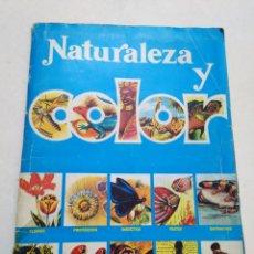 Coleccionismo Álbumes: ÁLBUM NATURALEZA Y COLOR ( FALTA SOLO CROMO NÚMERO 79-PÁGINA 14 ). Lote 196550587
